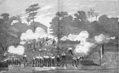 Horace VERNET, 1852  Les troupes françaises en Côte d'Ivoire, le 3 mars 1849.  ...