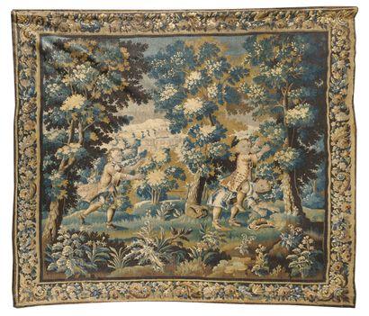AUBUSSON, XVIIIe siècle  Tapisserie représentant...
