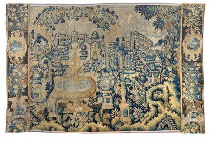 Grand fragment de tapisserie des ateliers...