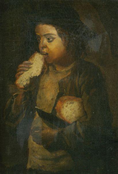 Ecole Italienne vers 1800.  Garçon mangeant...