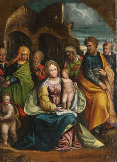 Ecole de FERRARE vers 1490  La Vierge et...