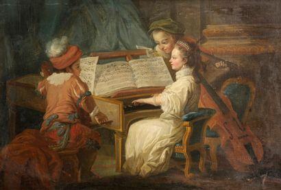D'après Carl Van Loo, XVIIIe siècle  Allégorie...