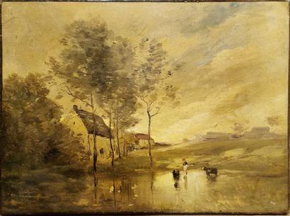 Paul Desiré TROUILLEBERT ( 1829-1900) attribué...