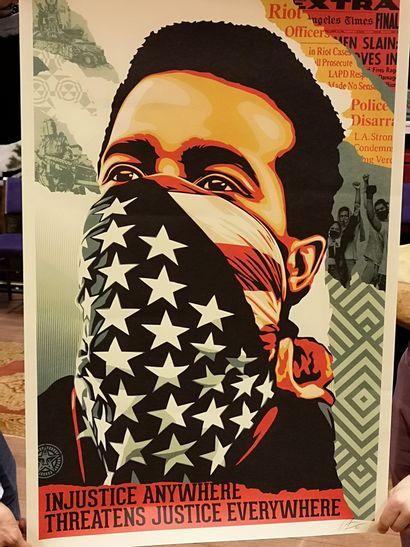 Shepart FAIREY American rage. Offset signé...