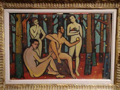Ecole Moderne  Paradis, Adam, Eve et ses...