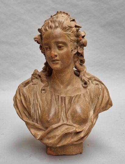 Ecole FRANCAISE du XVIIIe siècle  Buste de...