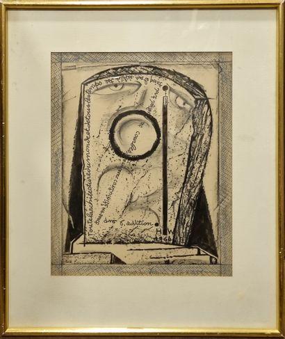 Henri de WAROQUIER (1881-1970)  Visage et...