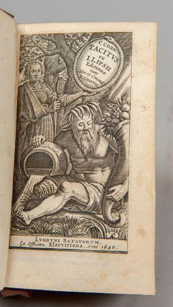 TACITE. Opera. Leyde, Elzevier, 1640. 2 tomes...