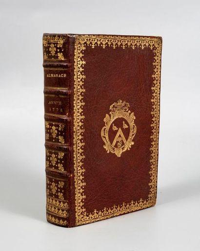 ALMANACH ROYAL, année 1788. Paris, Le Breton,...