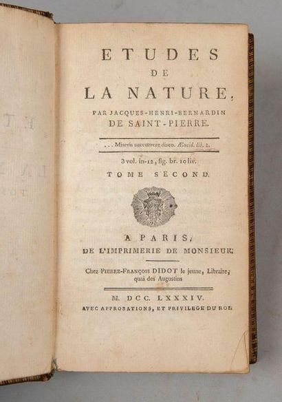 BERNARDIN DE SAINT PIERRE. Études de la nature....