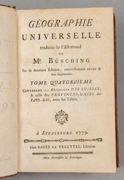 BUSCHING. Géographie universelle. (Tome XIV...
