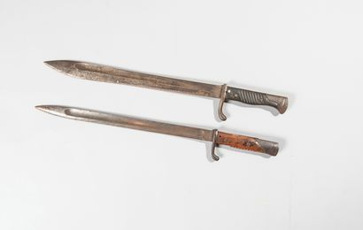 Lot de deux baillonettes, Mauser 98.  (En...