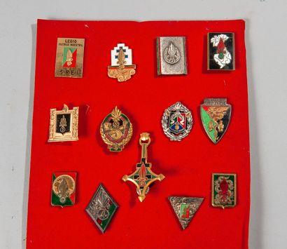 Lot de treize insignes réglementaires Légion...