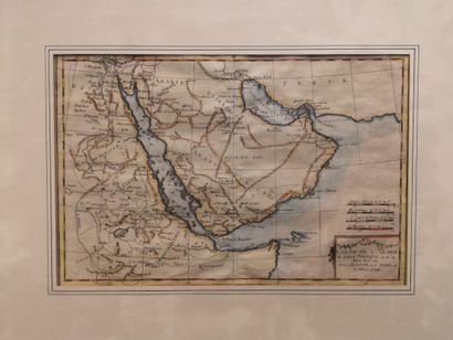 Carte de l'Arabie, du golfe persique, et...