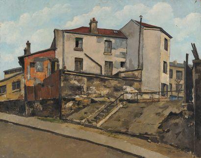 J.R. ITHIER, Montmartre,toile signée. 65...