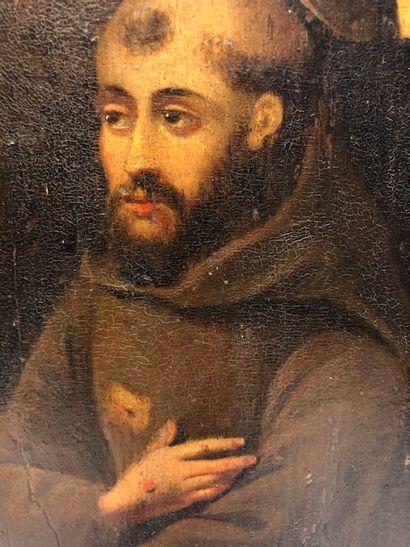 Ecole espagnole fin XVIe siècle  Saint François...
