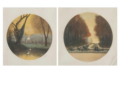 Eugène GAUGUET (né en 1872) : Vues du parc...