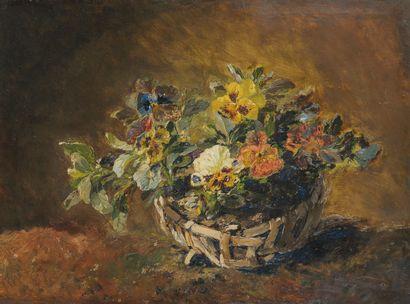 Ferdinand TROUPEAU (XIX-Xxe siècle)  Panier...