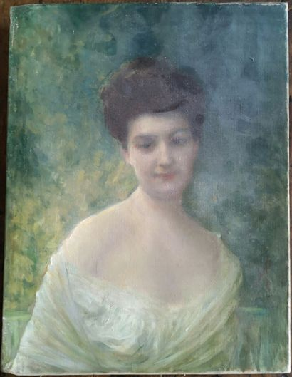 Ernest Antoine HÉBERT (1817-1908)  Portrait...