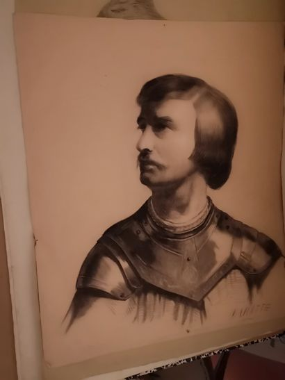 Pochette de dessins, aquarelles, gravures,...