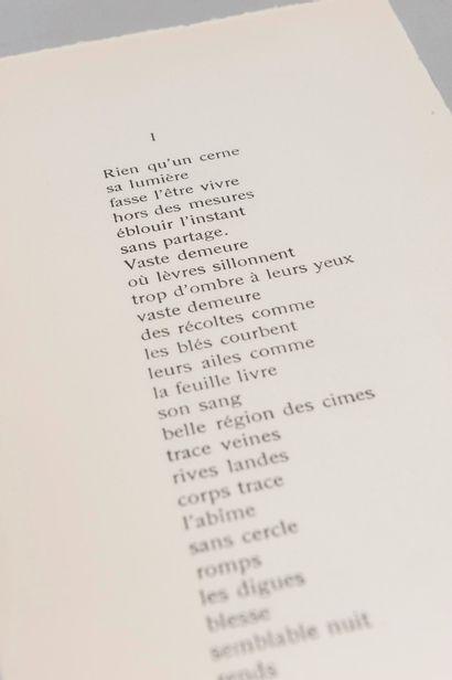 GAGARINE (Mila). Poèmes. Paris, Mila Gagarine,...