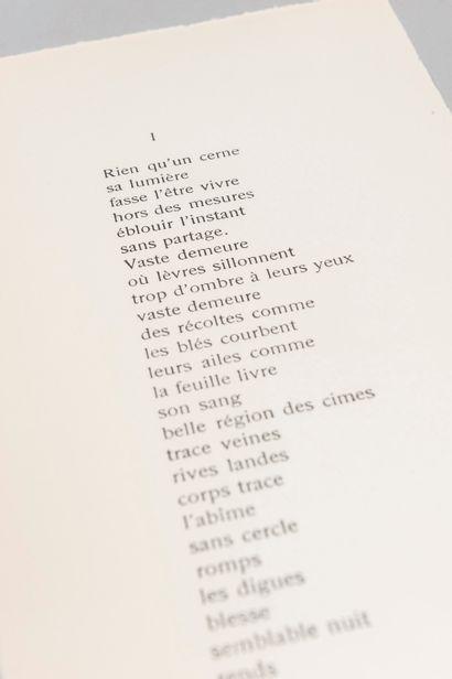 GAGARINE (Mila). Poems. Paris, Mila Gagarine, 1969. In-8, in sheets.  Original edition....