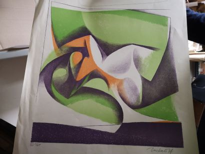 1 litho *composition abstraite* 11/65 DASKALOFF...
