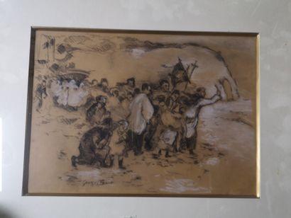 George BINET (1865-1949), La bénédiction...