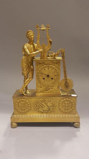 Pendule en bronze doré