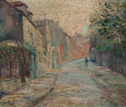 Ecole MODERNE  Vue de Montmartre  Panneau,...