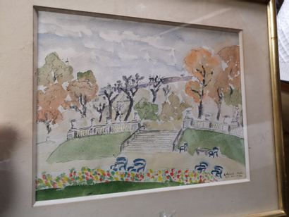 Edmonde ADES  View of the Luxembourg Gardens,...