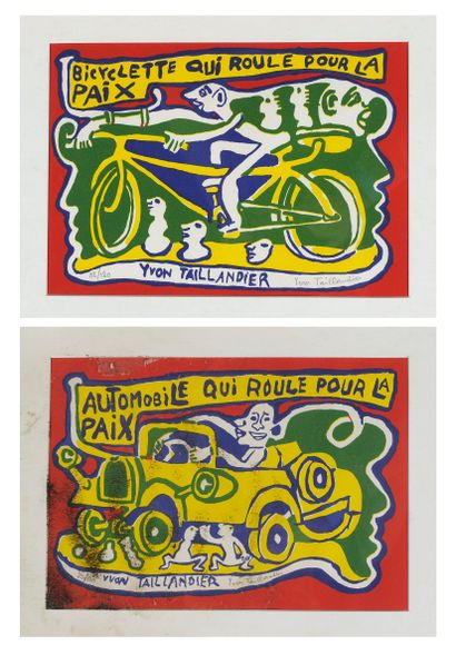 Yvon TAILLANDIER (1926-2018)  Bicycle that...