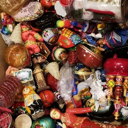 Collection de décorations de noël