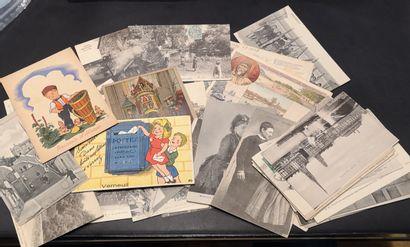Lot de cartes postales (48 pièces)