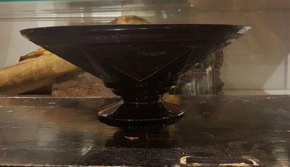 Coupe en verre Art Décor à décor étoilé sur...