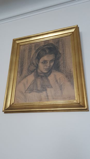 Ecole Moderne  Portrait de femme au fusa...