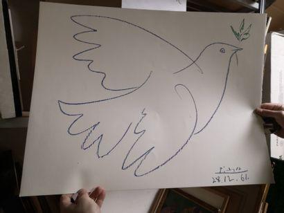 D'après PICASSO  La colombe de la paix et...