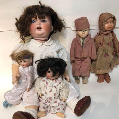 3 poupées en porcelaine (Heubach Koppelstorf...