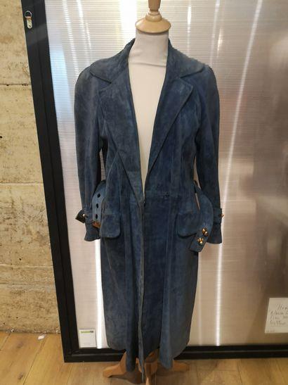 Hermès Paris, vers 1960-1970.  Manteau en...