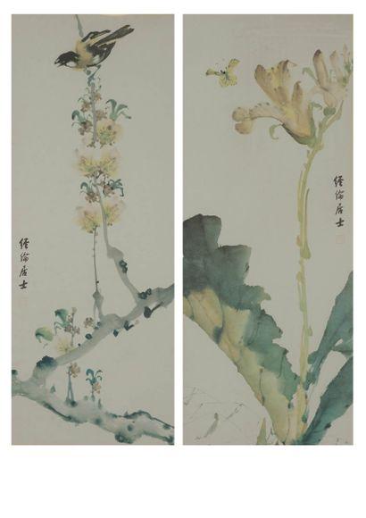 Deux reproductions dans le goût de la Chine....