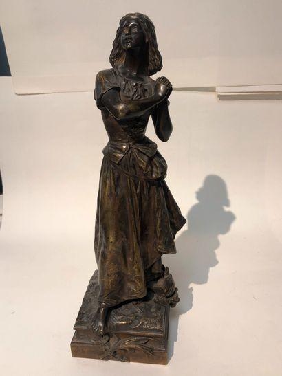 D'après H.MOREAU  Jeanne d'Arc  Bronze.  Haut....