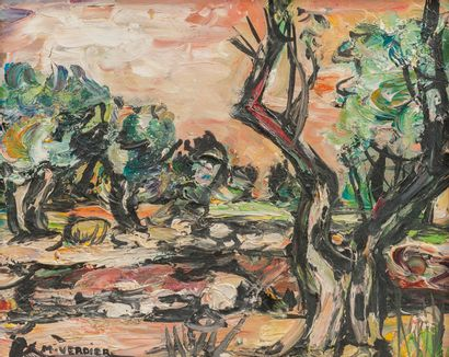 Maurice VERDIER (1919-2003)  The olive trees...