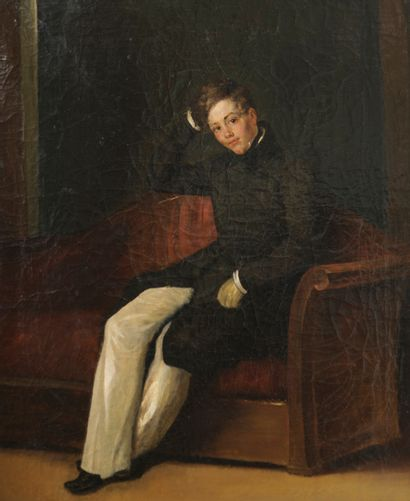 Théophile Fragonard (1806-1876)  Portrait...