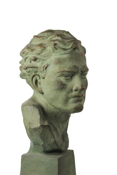 Ugo Cipriani (1887-1960)  Buste d'homme  Epreuve...