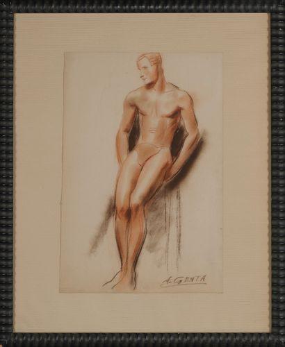 Albert Genta (1901-1989)  Académie d'homme...