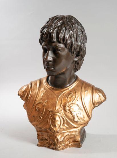Ecole du XIXe siècle  Buste du jeune Laurent...