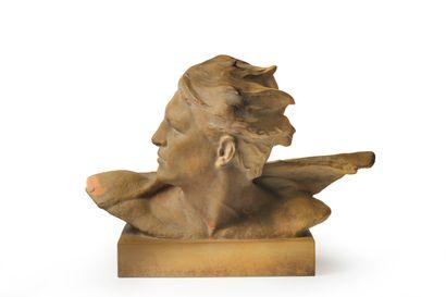 R. Pollin (XXe)  Buste d'homme  Epreuve en...