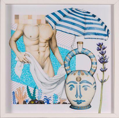 Jean Bosphore (1995)  La piscine, 2020  Crayon,...
