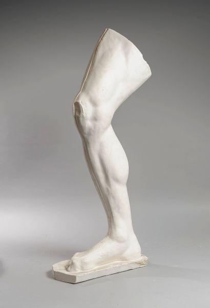 Plâtre d'atelier  Jambe d'homme taille réelle...