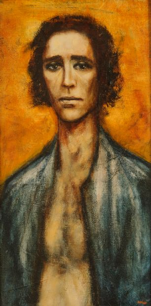 Pierre Laffillé (1938-2011)  Portrait d'homme...